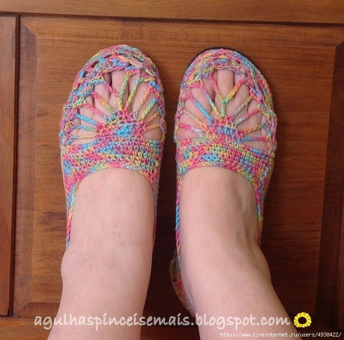 钩针:夏季拖鞋 - maomao - 我随心动