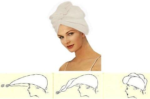 Как сшить тюрбан для бани 34