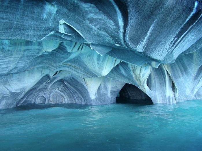 мраморные пещеры Чиле-Чико фото 5 (700x522, 416Kb)
