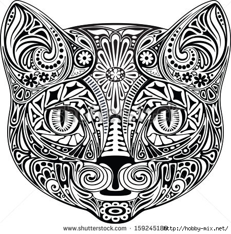 stock-vector-cat-black-and-white-159245186 (450x455, 211Kb)