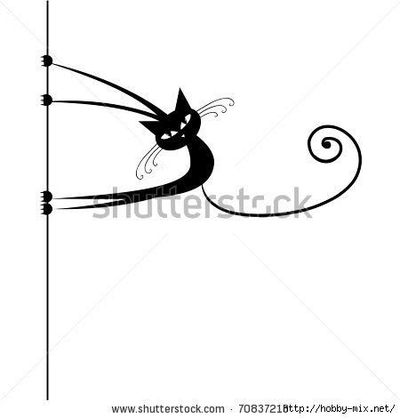 stock-vector-funny-cat-silhouette-black-for-your-design-70837213 (450x470, 36Kb)