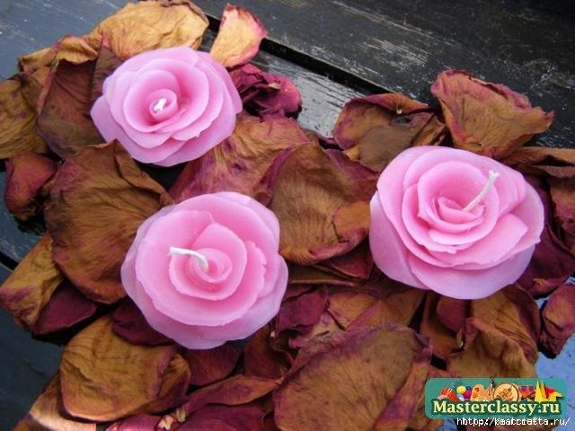 Цветы из парафина