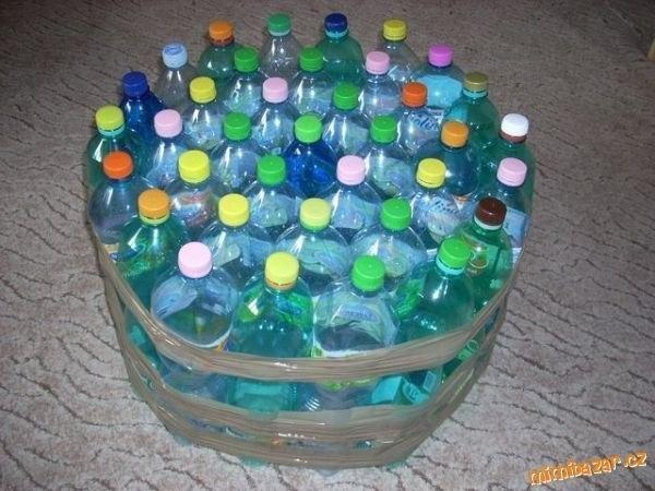 Пуфы своими руками из пластиковых бутылок