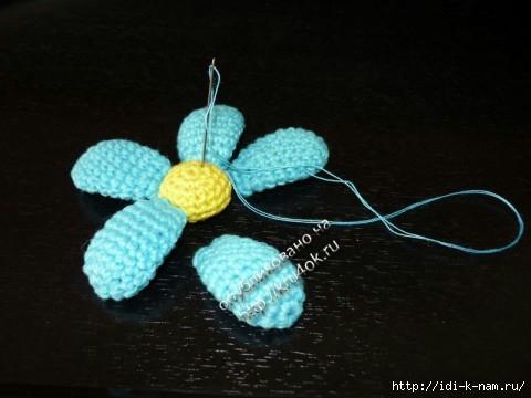 вязаные цветы в горшочке. как связать цветы с горшочком, схема вязания цветочков в горшке,