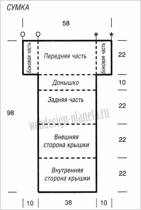 korichnevyj-pulover-spitsami-s-kosami-i-sumka-vykrojka-sumka (470x700, 113Kb)
