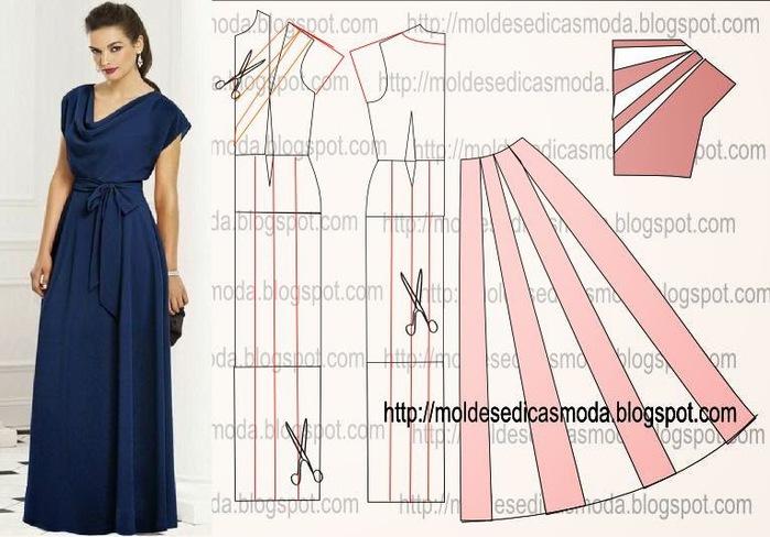 Моделирование горловины для платья