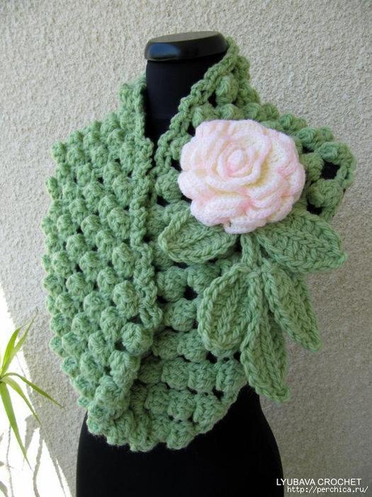 POPCORN SCARF ..PATTERN +MK - CrochetRibArt