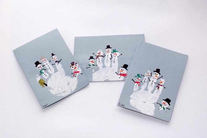 handptint snowmen (700x468, 233Kb)