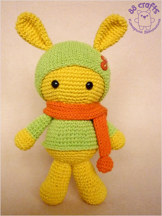 Amigurumi How To Decrease : Amigurumi: Colorful bunny pattern Charlotte Anne