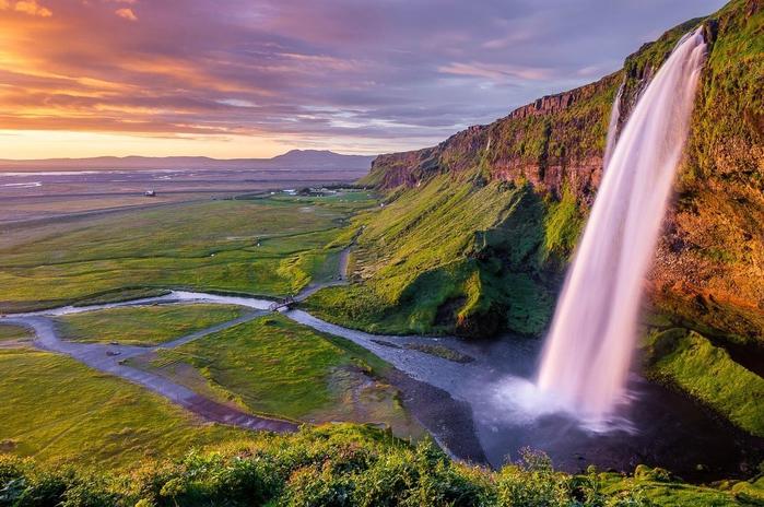Водопад Селйяландсфосс фото 7 (700x464, 423Kb)