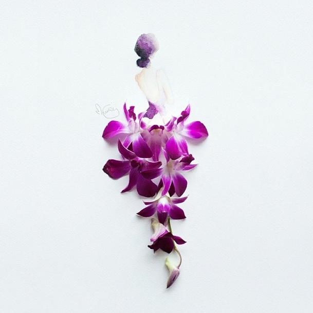 цветочные акварели Лим Чжи Вэй 14 (609x608, 217Kb)