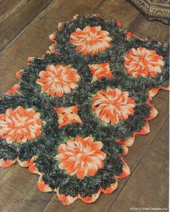 Красивые коврики крючком своими руками 9