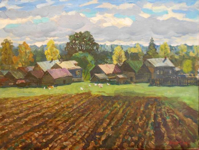 Сергей Илларионович Усик  Осень.4 (700x529, 407Kb)