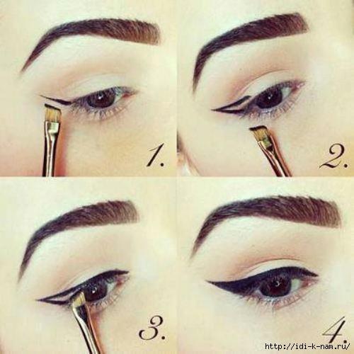 как нарисовать красивые стрелки на глазах, рисуем стрелки на глазах, как правильно подвести глаза, какие бывают стрелки на глазах, кому идут подводка глаз, как сделать стрелки на глазах,
