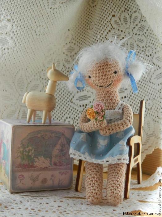 вязаная кукла. как связать куклу, схема вязания куколки, вязаная тильда, Хьюго Пьюго рукоделие,