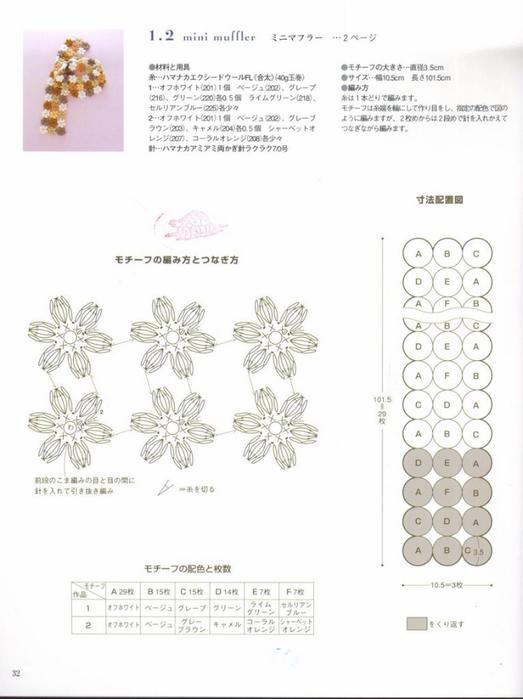Шарф с мелкими цветами2 (523x700, 185Kb)