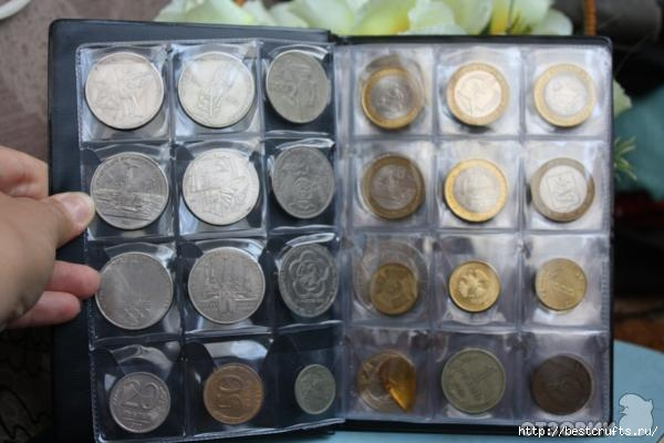 Для хранения монет своими руками