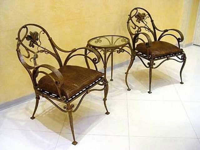 ажурная ковка, кованные работы, ковка в современном интерьере, кованные изделия на участке, кованная мебель, кованные стулья, кованный журнальный столик