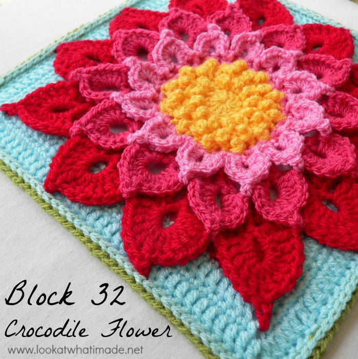 Crocodile-Flower-Crochet-Square-Photo-Tutorial (699x700, 182Kb)