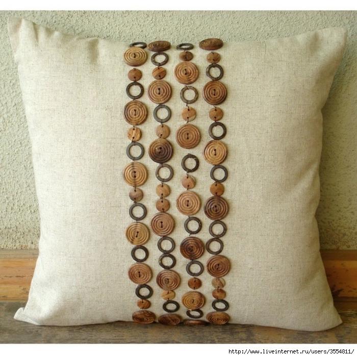 Пуговицы на подушки своими руками