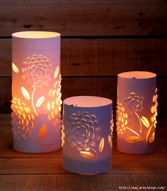 Фонарики для свечи своими руками
