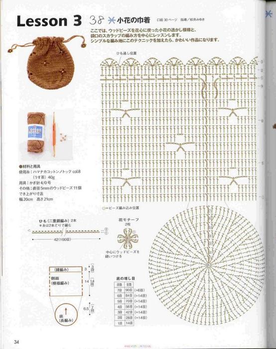 Сумочка для куклы крючком схема