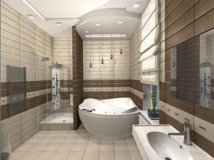 Современный дизайн ванной комнаты 6 кв м с туалетом и стиральной машиной 81