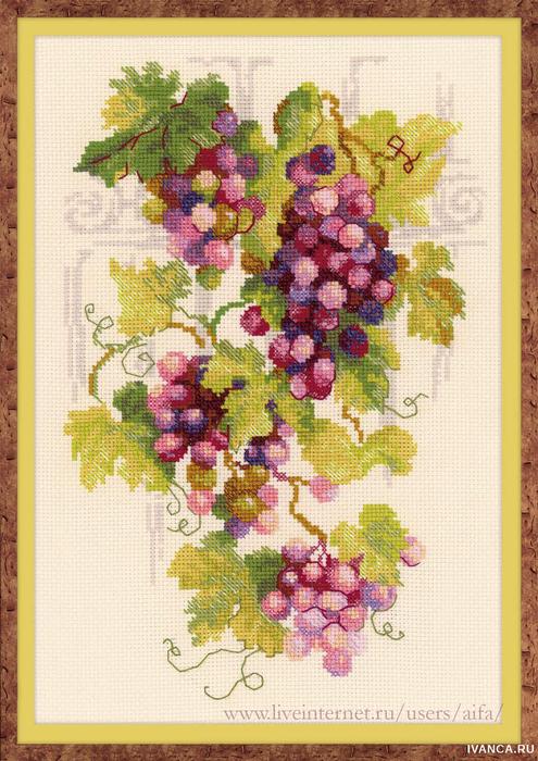 Схемы виноградная лоза вышивка крестом