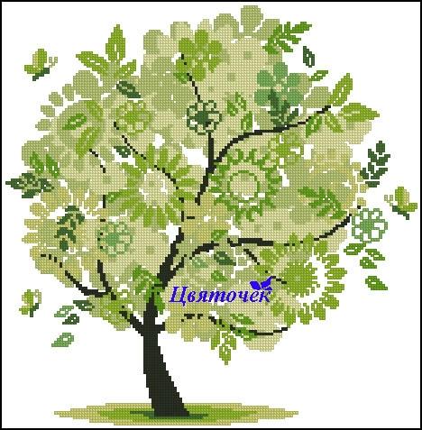 Весеннее дерево (468x477, 201Kb)