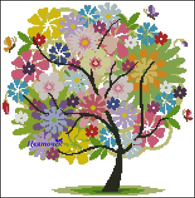 Летнее дерево (620x632, 371Kb)