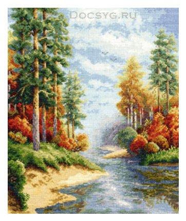 Вышивка крестом лес картинки