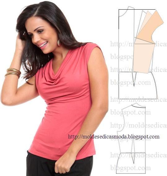Трикотажные блузки своими руками выкройка