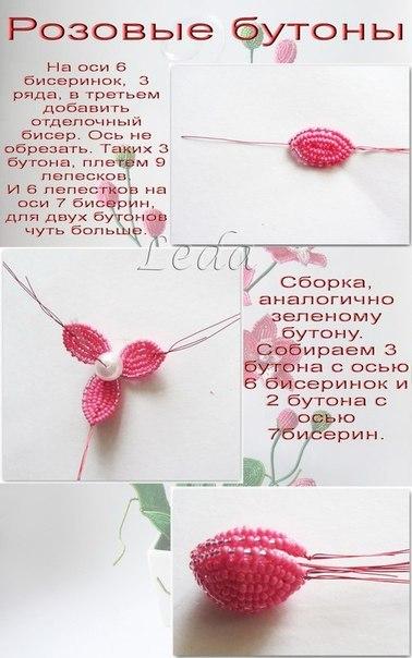 Как сделать бутоны орхидеи из бисера