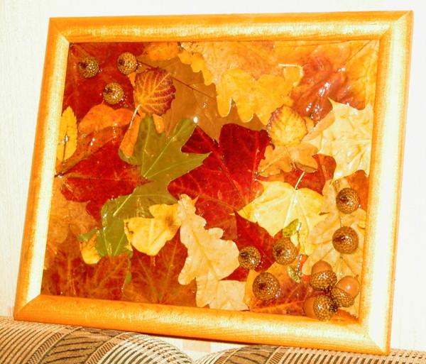 Из листьев своими руками фото