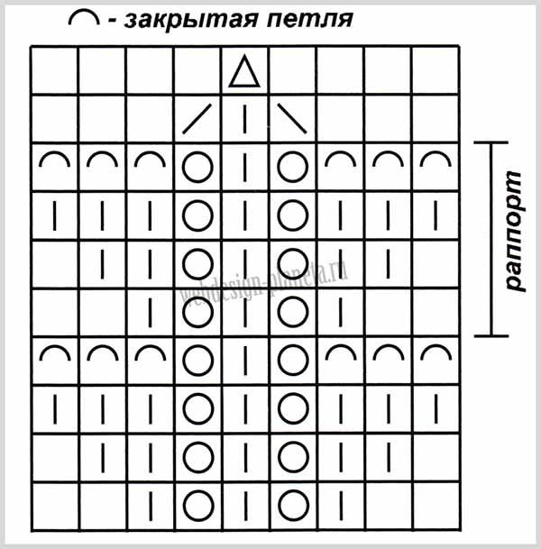 vyazanoe-palto-spitsami-s-korotkimi-rukavami-shema-A (600x609, 162Kb)