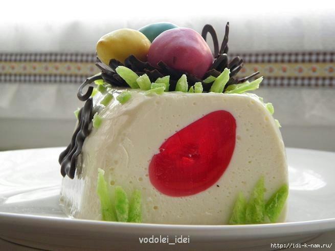 пасхальный творожно шоколадный десерт, пасхальные угощения рецепты, рецепты на пасху,