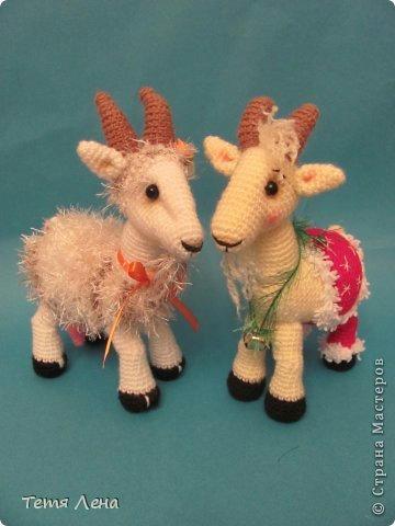 вязаная коза козчка, как связать козу, схема вязания козочки, симво талисман 2015 г.