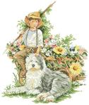 Превью Lanarte 34445 Jongen met hond (355x420, 141Kb)