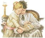 Превью Lanarte 34511  Moeder en kind  За чтением (275x235, 73Kb)