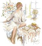 Превью Lanarte34715-My_Diary женщина с книгой (425x465, 190Kb)