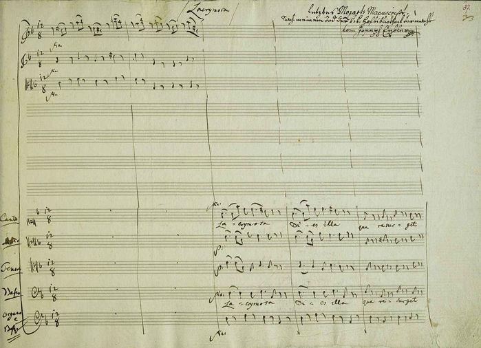 Manuscript  of  the  last  page of  Requiem  Первая страница Lacrimosa (700x506, 73Kb)