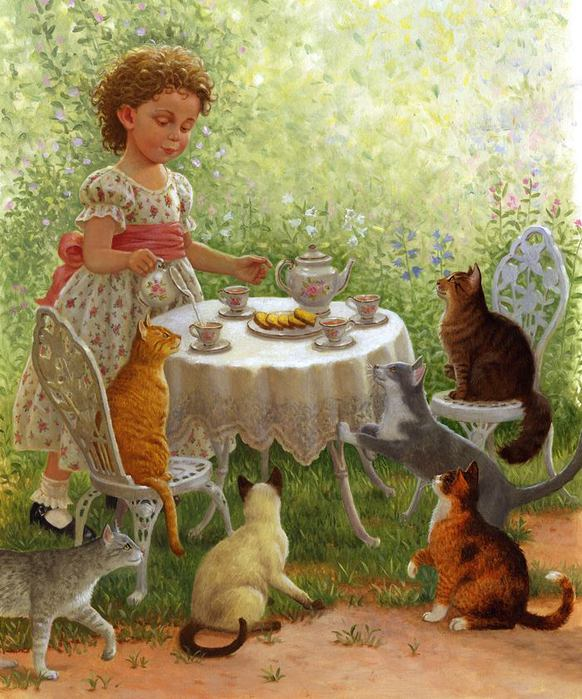 5174086_74539471_Ruth_Sanderson_Cat_Tea_Party (582x699, 85Kb)