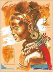 Превью Lanarte34758 African Woman (378x516, 263Kb)