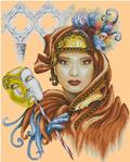 Превью Lanarte 34830 Venetian Mask_женщина с маской (390x485, 241Kb)