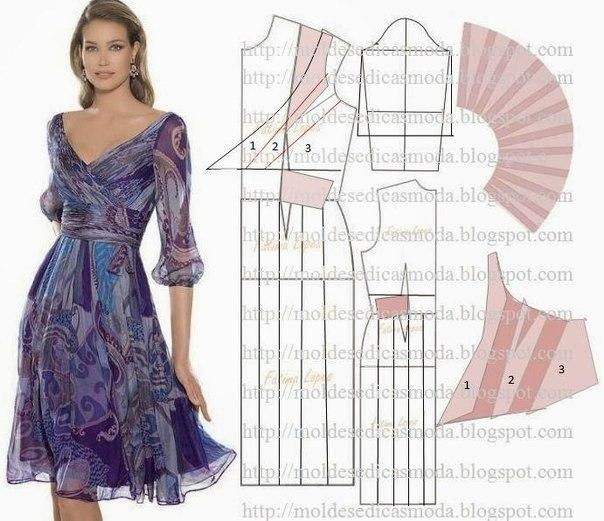 платье выкройка (604x521, 217Kb)