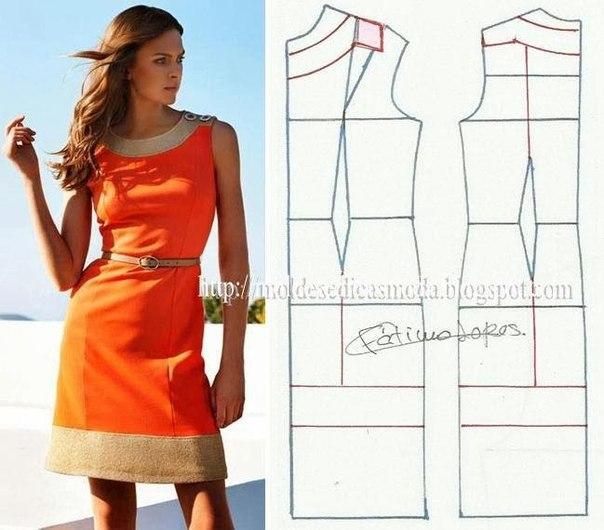 платье выкройка000 (604x530, 208Kb)
