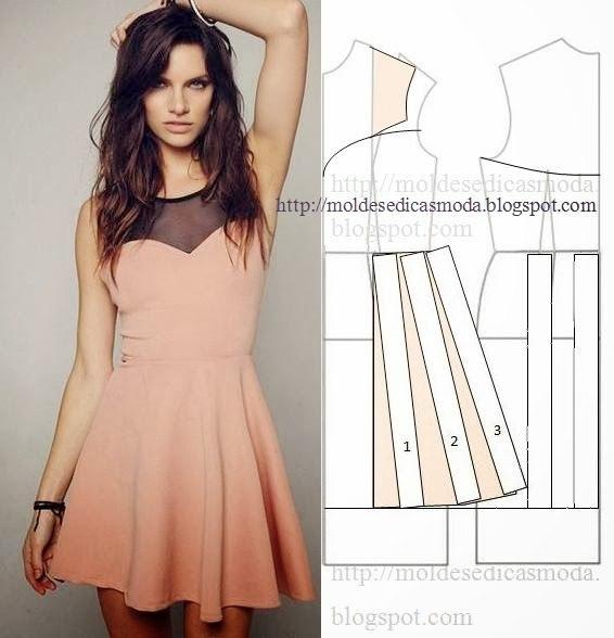 платье выкройка1 (566x588, 159Kb)