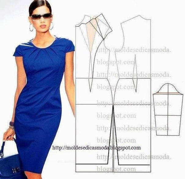 платье выкройка22 (604x584, 168Kb)