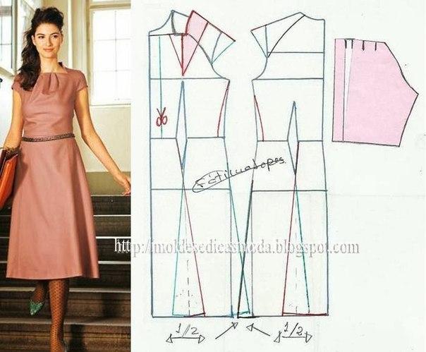 платье выкройка27 (604x499, 189Kb)