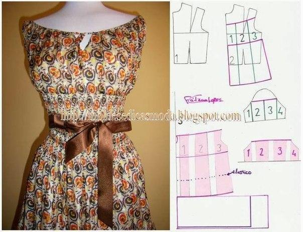 платье выкройка33 (604x463, 245Kb)